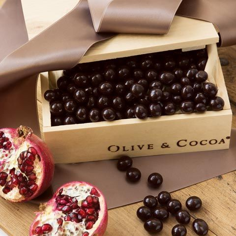 Olive and Cocoa Pomegranate Chocolates