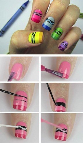 Back to School Nail Art Patterns